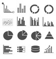 business data icons set vector image