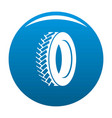 one tyre icon blue vector image
