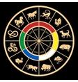 Chinese years zodiac calendar vector image