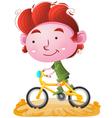 Kids Riding bike vector image