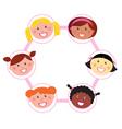 unity multi cultural woman vector image
