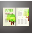 Abstract Brochure Flyer design with trees vector image