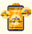 app city car mobile taxi service vector image vector image
