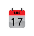 august flat calender