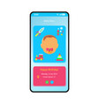 badiary smartphone interface template vector image vector image