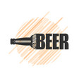 beer bottle logo design om white background vector image vector image
