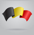 Belgian waving Flag vector image