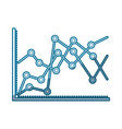 blue shading silhouette of statistical graphs vector image vector image