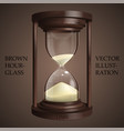 brown hourglass on brown background future vector image
