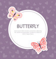 butterfly banner template with beautiful vector image