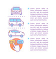 car rental article page template vector image vector image