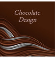 chocolate and cream wave dark brown swirls smooth vector image vector image