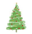 Christmas tree1 vector image vector image
