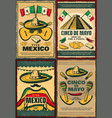 cinco de mayo retro poster of mexican holiday vector image vector image