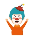 circus clown character isolated icon vector image