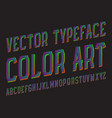 color art typeface colored stripy font isolated vector image vector image