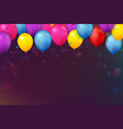 colorful birthday celebration banner with balloons vector image vector image