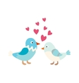 Couple of cute love birds nature sweet comic vector image vector image
