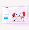 coworking team work landing page vector image vector image