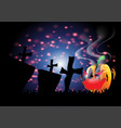creative design for happy halloween background vector image vector image