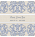 Damask Lace Invitation card with floral ornament vector image vector image