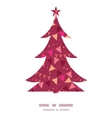 decorations flags Christmas tree silhouette vector image vector image