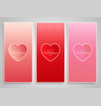 decorative banner designs for valentines day vector image vector image