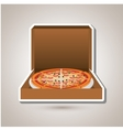 delicious pizza design vector image
