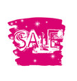 discount price tag in pink color sale sign vector image