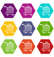 economy trolley icons set 9 vector image vector image