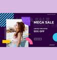 fashion social media promotion design vector image vector image