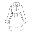 festive womens outfit for christmas vector image vector image