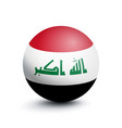 flag of iraq in the form of a ball vector image