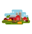 Flat of a farm landscape vector image vector image