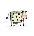 funny cow sketch for your design vector image vector image