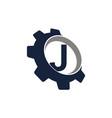 gear logo letter j vector image vector image