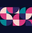 geometric minimalistic artwork poster vector image vector image