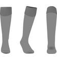 grey sport socks vector image vector image