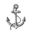 hand drawn an anchor vector image
