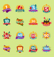 happy birthday anniversary numbers badge vector image vector image