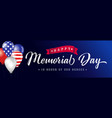 happy memorial day blue poster usa with balloons vector image vector image