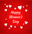 happy women day cover template vector image