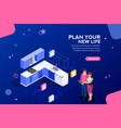 home planner web banner template vector image