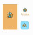 hotel company logo app icon and splash page vector image
