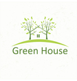 house with trees in the style of negative space vector image vector image