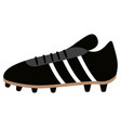isolated soccer shoe icon vector image vector image