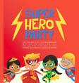 joyous multiracial kids in super hero outfit and vector image vector image
