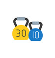 kettle bell icon flat design for sport logo vector image