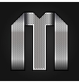 Letter metal chrome ribbon - m vector | Price: 1 Credit (USD $1)