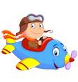 Little Boy Operating a Plane vector image vector image